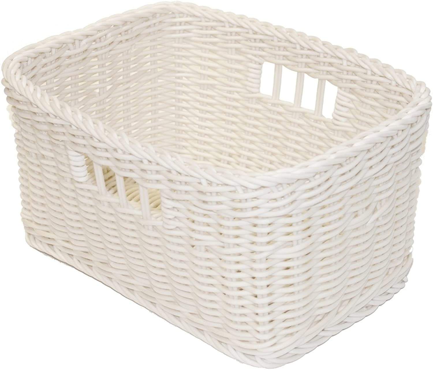 Saleen Rectangular Basket, Ivory, 30 x 20 x 15.5 cm