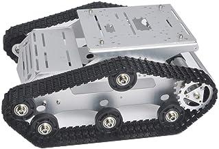 KOOKYE Robot Tank Car Kit Tank Chassis Platform Metal Stainless Steel 2DW Motor for Arduino/Raspberry Pi DIY (Silver Tank ...