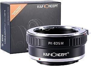 [正規代理店]K&F ペンタックス PENTAX Kレンズ PK-CANON EOS M マウントアダプター レンズクロス付 pk-eosm (KFEOSM)