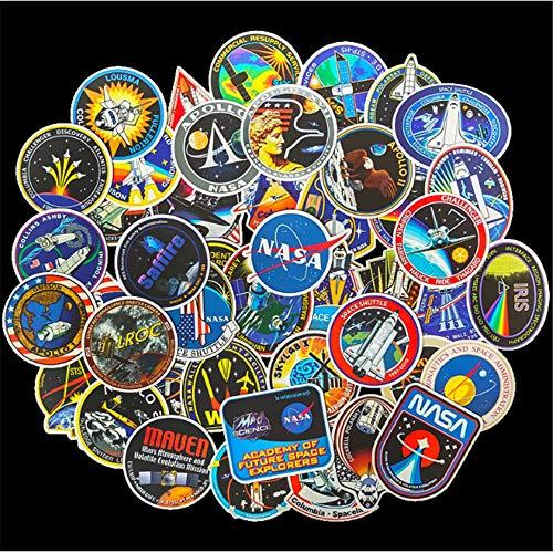 ZAQ 45 Marca De La Marea Etiquetas Engomadas del Equipaje De La Nave Espacial Aeroespacial Estadounidense De La NASA Pegatinas De Guitarra De Computadora Portátil