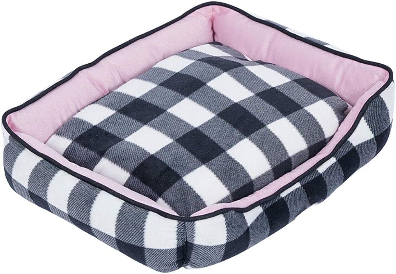 LITING Cat Litter Winter Warm Deep Sleep Kennel Comfortable Soft Washable House Villa Pet Supplies (color   Pink)