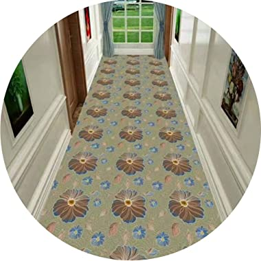 WX&QIANG Hallway Runner Rug Long Soft Non-Slip Do Not Fade Washable HD Printing Petal, Suitable for Family Hotel Living R
