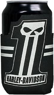 Harley-Davidson Custom Shape #1 Skull Neoprene Can Flat Wrap, Black CF71800