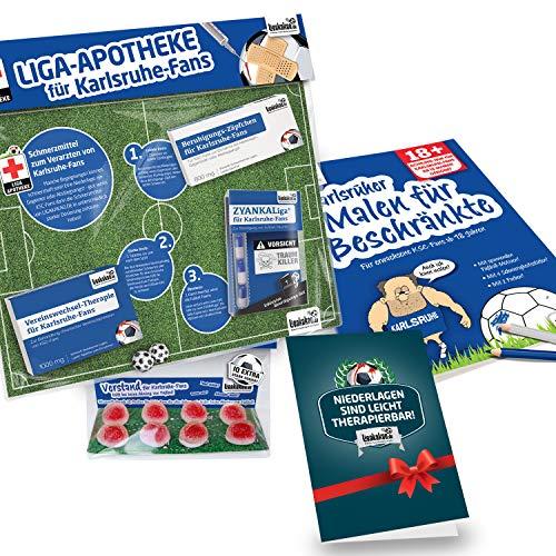 Karlsruhe Kaffee Becher ist jetzt das GROßE Saison Notfall Set für KSC-Fans by Ligakakao.de