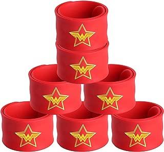 Superhero Slap Bracelets with Original Emblems for Party Supplies Favors