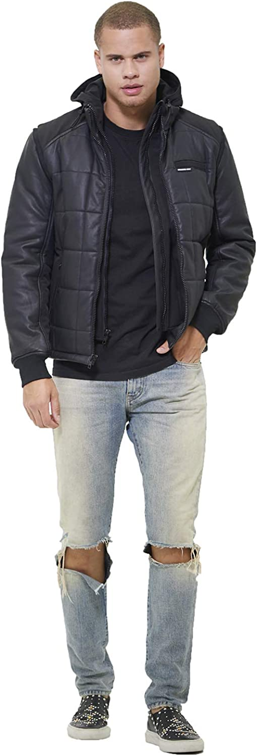 Members Only Men's Grid Quilted Jacket