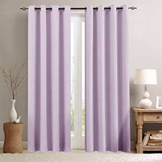 Light Filtering Thermal Insulated Curtains for Living Room Curtains for Bedroom Light Blocking Triple Weave Draperies Grommet Top 1 Pair 84