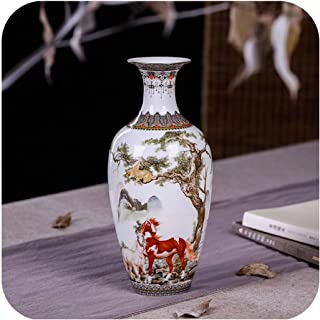 Antique Ceramic Vase Eggshell Vase Desk Accessories Crafts Snow Flower Pot Traditional Chinese Style Porcelain Vase,11