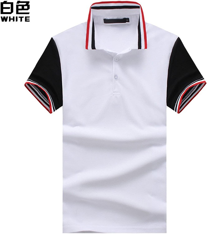 Summer Fashion Men Threaded Collar ShortSleeved Polo ShirtYU&Xin