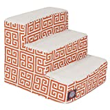 3 Step Portable Pet Stairs By Majestic Pet Products Orange Towers Steps
