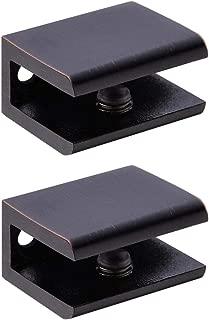 Orhemus 2pcs Adjustable 304 Stainless Steel Glass Clamp Clip Shelf Brackets Holder Support 0.23