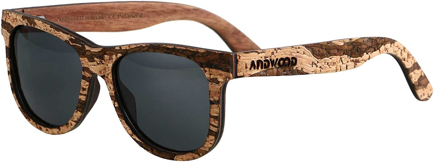 ANDWOOD Real Wood Sunglasses Classic Polarized For Men Women Vintage Style
