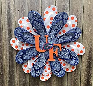 University of Florida Gator Flip Flop Wreath Gator wreath 24