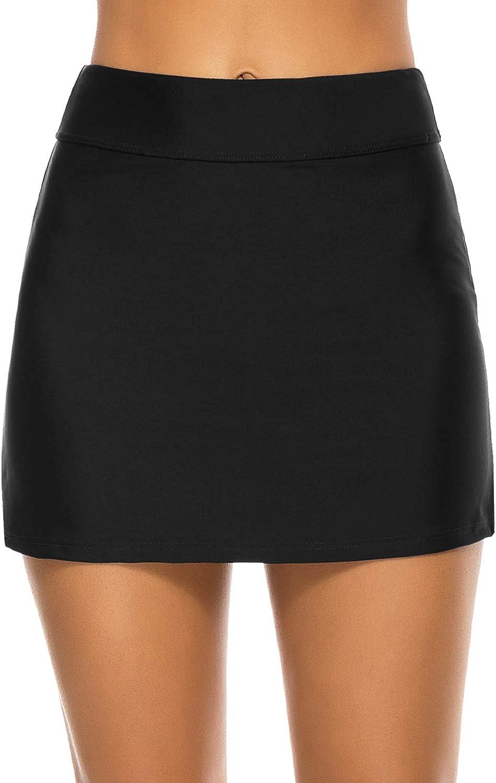 Tournesol Women's Swim Skirts High Waisted Bathing Suit Bottoms Bikini Swimsuit Skirts