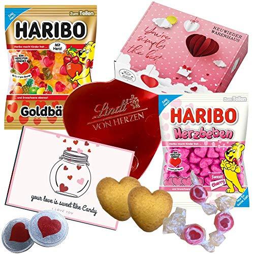 Süßigkeiten Geschenkbox Liebesgeschenk - kleines Geschenk für Frauen - Süßigkeiten Box als Mitbringsel