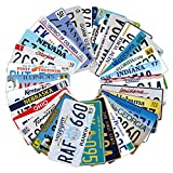 18 Pieces Assorted Retro Vintage Number Tags, 3D Embossed License Plates, Home Wall Automobile Bar Garage Man Cave Decoration, 6x12' / 15x30cm