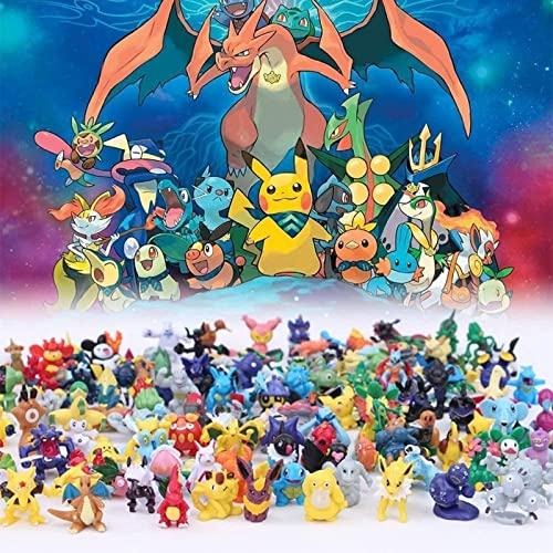 144個のポケモンフィギュアおもちゃ、ミニアクションフィギュアモンスターおもちゃセット、ポケモンバトルフィギュア、2〜3cmクレイジーペットビッグコレクション、ポケモンアニメフィギュアモデルおもちゃ、ポケモ