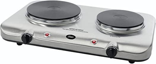 Oster Inspire Double Burner and Hot plate, Stainless Steel (CKSTBUDS00)