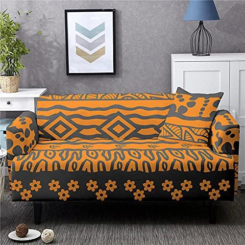 Funda Sofas 2 y 3 Plazas Ola Amarilla Fundas para Sofa con Diseño Elegante,Cubre Sofa Ajustables,Fundas Sofa Elasticas,Funda de Sofa Chaise Longue,Protector Cubierta para Sofá