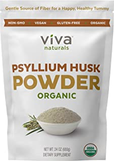 Organic Psyllium Husk Powder (1.5 lbs ) - Easy Mixing Fiber Supplement, Finely Ground & Non-GMO Powder for Promoting Regul...