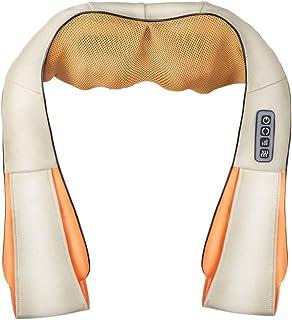 Shiatsu Cuello Hombro Masajeador Masajeador de espalda inalámbrico con calor, Masaje eléctrico Almohadilla con tejido profundo 3D Amasamiento para piernas, Pie, Alivio para el dolor de todo el cuerpo