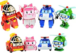 4pcs/Set Robocar Poli Toy Korea Robot Car Transformation Toys Poli Robocar Toys