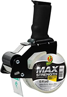 Foam Handle Tape Dispenser with Duck MAX Strength Packing Tape, 1.88 Inch x 54.6 Yard, Clear (284984)