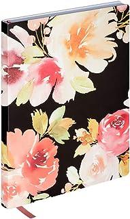 Black Floral Lined Journal by Artist's Loft