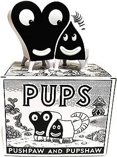 Press Pop Pupshaw and Pushpaw - Black & White Edition Designer Vinyl Figure by Jim Woodring