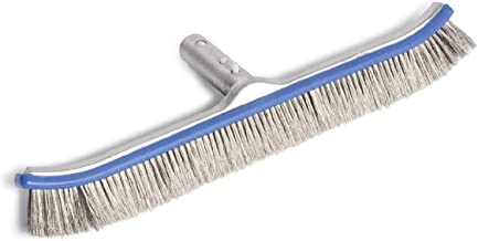 """Milliard Pool Brush 18"""" Extra-Wide Heavy Duty Wire Algae Cleaner Brush Designed for Concrete and Gunite Pools for Extremely Tough Stain Removal"""