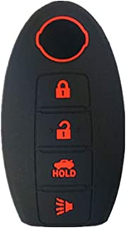 KAWIHEN Silicone 4 buttons Keyless Entry Smart Remote Key Fob Cover Protector For Nissan 350Z 370Z Altima Armada GT-R Leaf Pathfinder Rogue Sentra Maxima Murano Versa CWTWB1U840 285E3-3SG0D