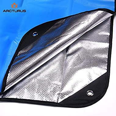 Arcturus All Weather Outdoor Survival Blanket - All Purpose, Thermal, Reflective, Emergency - 60  x 82  (Blue)