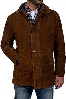FaddyRox Longmire Sheriff Walt Robert Taylor Suede Leather Coat, XXS to 5XL