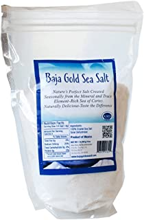 Baja Gold Sea Salt (Fine) 1 Pound Highest Mineralized Salt Perfectly Suited for use with Magnesium Root Cause Protocol