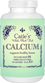 Catie's Whole Plant Food Calcium - Plant Based, Whole Food Calcium w/Magnesium, Vitamin D + K2, Boron, Lysine, Zinc. 30 Da...