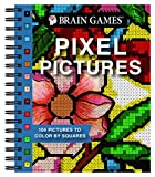 Brain Games - Pixel Pictures: 104 Pictures to Color by Squares