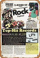 若いアメリカ レコードクラブ金属サインレトロな壁の装飾錫サインバー、カフェ、ホームデコレーション