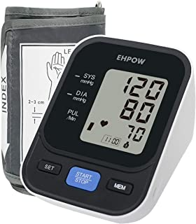 Blood Pressure Monitor Upper Arm, Automatic Digital BP Monitor& Pulse Rate Monitoring,22-42cm Adjustable Cuff,2 Users Mode