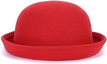 Vintage Style Women Solid Trendy Derby Wool Hat Lady Children Fedoras Felt Trilby Welcomed Parent-Child Cap