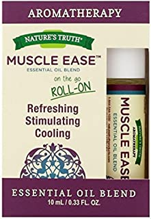Nature's Truth Essential Oil Roll-On Blend, Muscle, 0.34 Fluid Ounce (4 Pack)