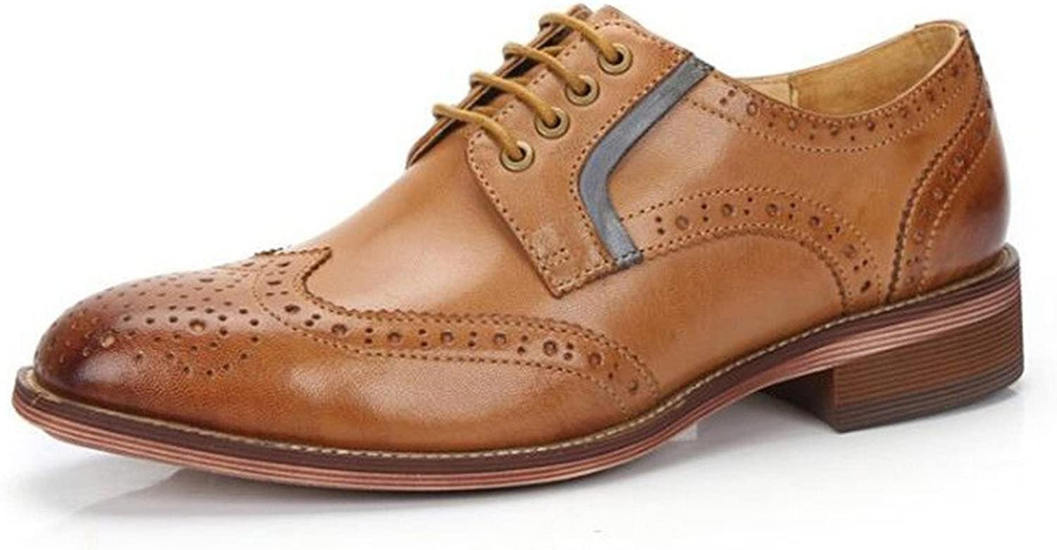 U-lite Women's Perforated Lace-up Wingtip Muticolor Leather Flat Oxfords Vintage Oxford shoes