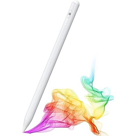 タッチペン iPad対応 ペンシル パームリジェクション搭載 オートスリープ機能 高感度 1mm極細ペン先 USB充電式 メモ取り ゲーム用 iPad(第6/7/8世代)/iPad mini5/iPad Air3/iPad Air4/iPad Pro等 2018年以降iPad機種に対応