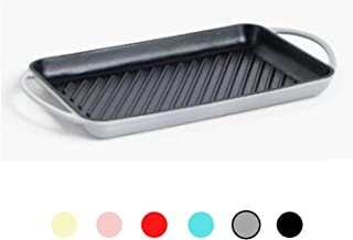 HARVESTFLY Small Ceramics Rectangular Baking Dishes with Handle for Oven Ceramic Baking Pan Lasagna Casserole Pan Individual Bakeware 20 x 13.5 x 5.5cm Blue//Orange//Green