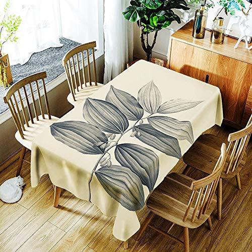 XXDD Mantel de patrón de Planta Creativo Simple Flor Impermeable Mantel para el hogar decoración del hogar A1 135x200cm