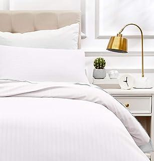 comprar comparacion AmazonBasics - Juego de ropa de cama con funda nórdica de microfibra y 1 funda de almohada - 135 x 200 cm, blanco brillante