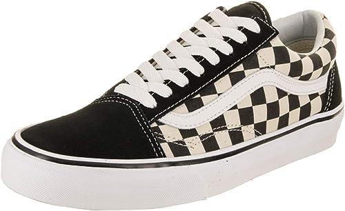 Vans Old Skool Checkerboard paniers Noir Noir Noir Blanc b26