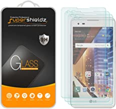 (3 Pack) Supershieldz for LG (Tribute HD) Tempered Glass Screen Protector, Anti Scratch, Bubble Free