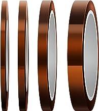 LUTER Hittebestendige tape, polyimide, hittebestendige tape, 4 rollen voor sublimatieafdrukken, golven solderen, 3D-printe...