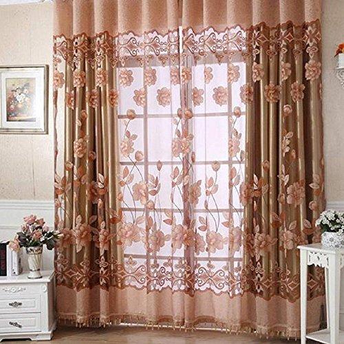 cortinas salon modernas 2 piezas traslucidas