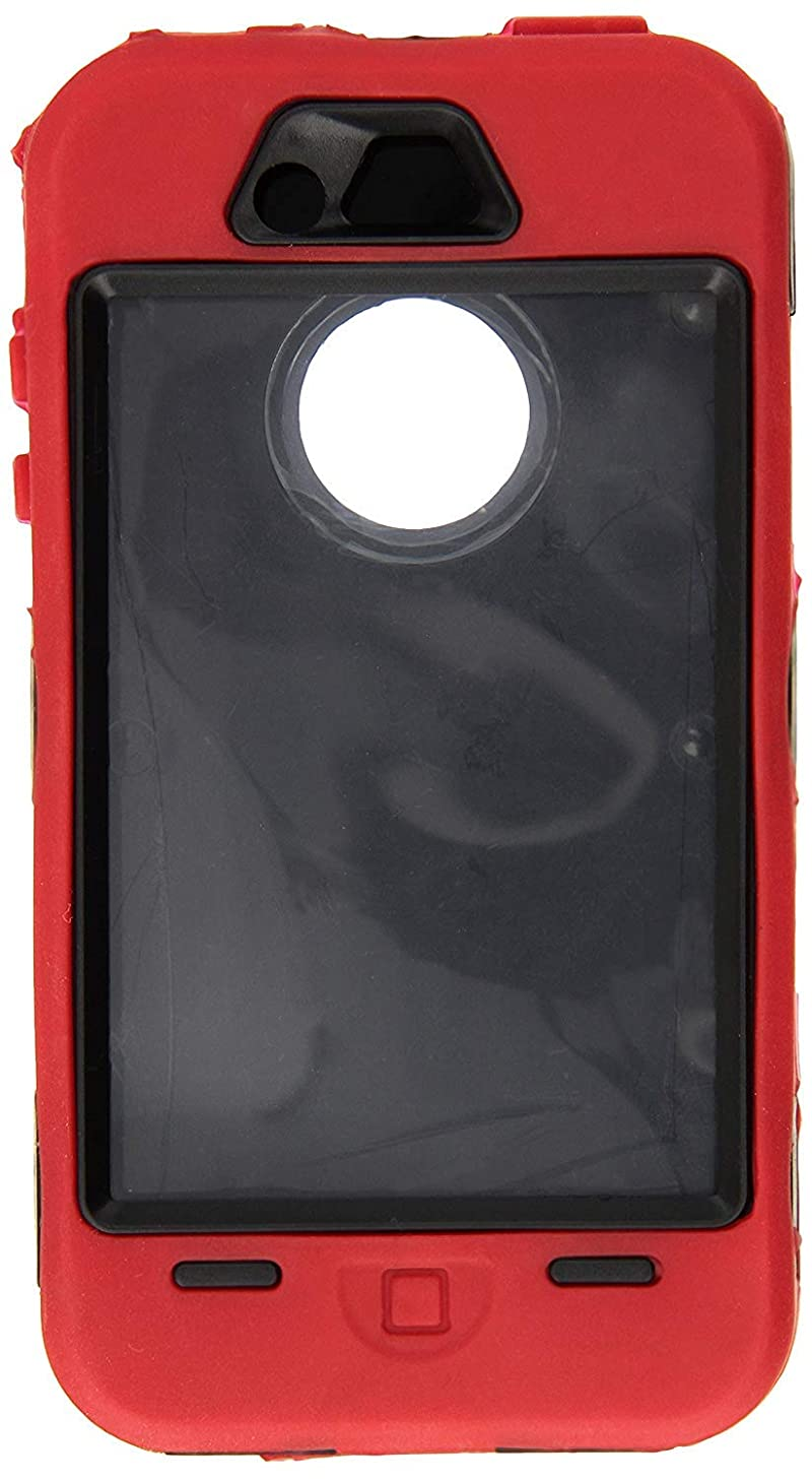 Generic Cell Phone Case for iPhone 4 - Non-Retail Packaging - Red & Black